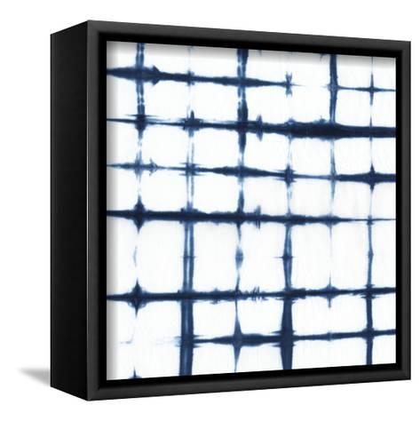 Indigo Tiles VII-Chariklia Zarris-Framed Canvas Print