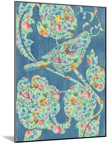 Floral Birds I-Chariklia Zarris-Mounted Art Print
