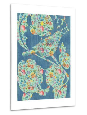 Floral Birds I-Chariklia Zarris-Metal Print