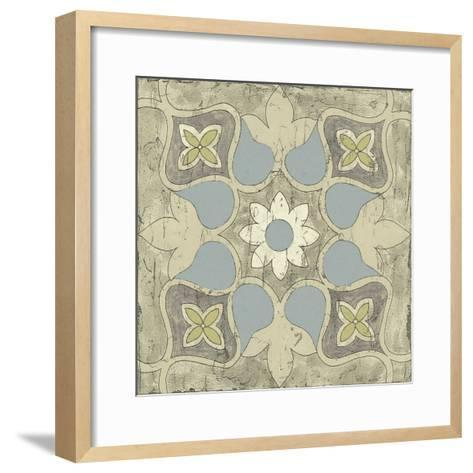 Pastel Tile Design V-Studio W-Framed Art Print