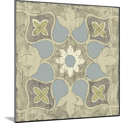 Pastel Tile Design V-Studio W-Mounted Art Print