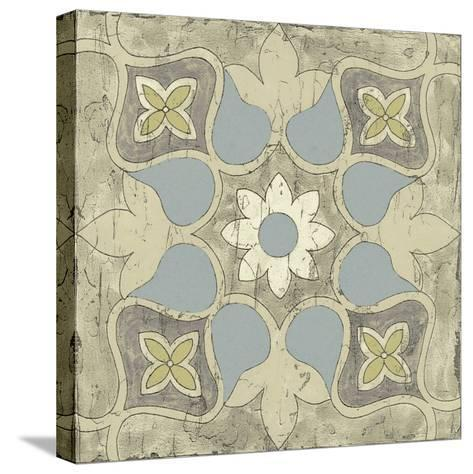 Pastel Tile Design V-Studio W-Stretched Canvas Print