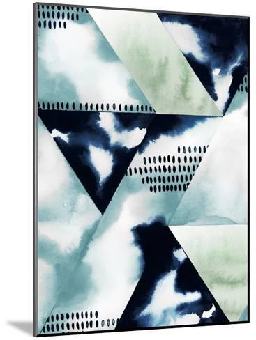 Blue Billow II-Grace Popp-Mounted Art Print