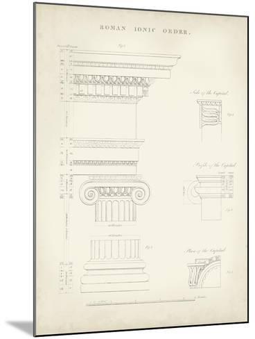 Greek and Roman Architecture V-Thomas Kelly-Mounted Art Print