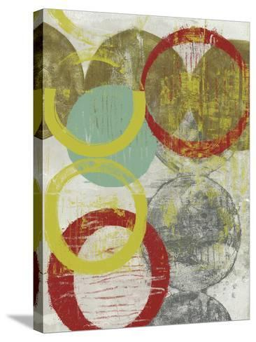 Layers and Circles II-Jennifer Goldberger-Stretched Canvas Print