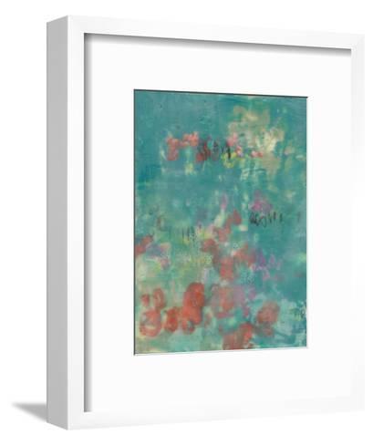 Teal Rose Garden II-Jennifer Goldberger-Framed Art Print