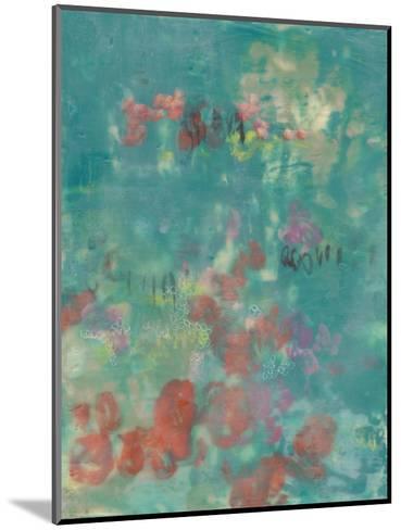 Teal Rose Garden II-Jennifer Goldberger-Mounted Art Print