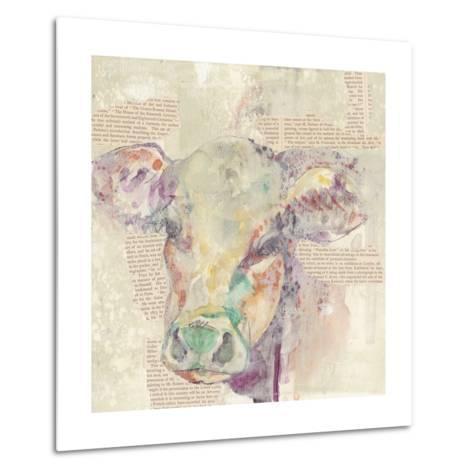 Farm Collage II-Jennifer Goldberger-Metal Print