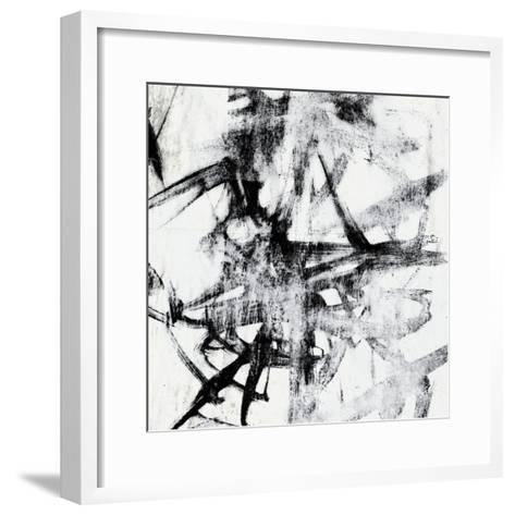 Monotype Scribble II-Jennifer Goldberger-Framed Art Print