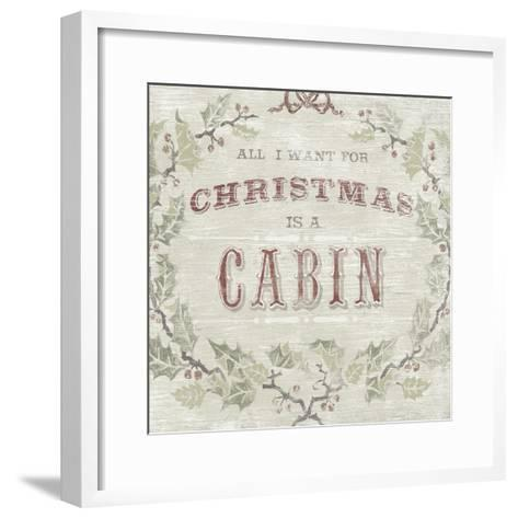 Cabin Christmas IV-June Vess-Framed Art Print