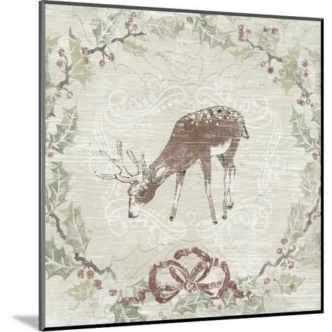 Cabin Christmas VI-June Vess-Mounted Art Print
