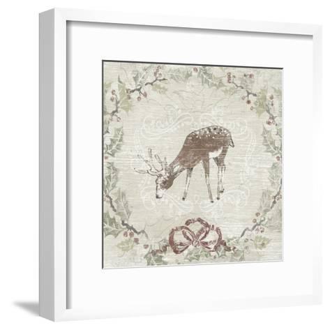 Cabin Christmas VI-June Vess-Framed Art Print