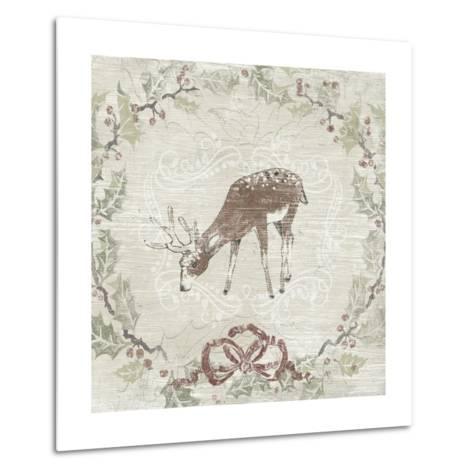 Cabin Christmas VI-June Vess-Metal Print