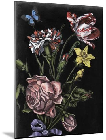 Dark Floral IV-Naomi McCavitt-Mounted Art Print