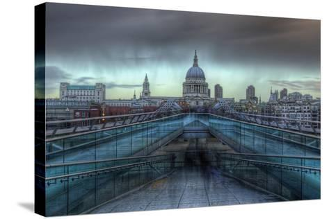 Storm over St. Paul's-Joe Reynolds-Stretched Canvas Print