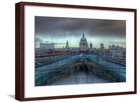 Storm over St. Paul's-Joe Reynolds-Framed Art Print