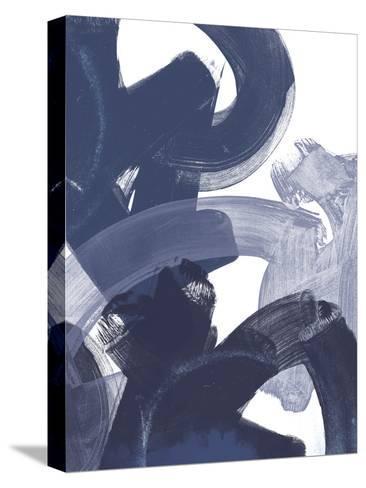 Blue on Blue I-June Vess-Stretched Canvas Print