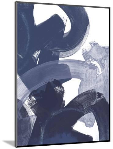 Blue on Blue I-June Vess-Mounted Art Print