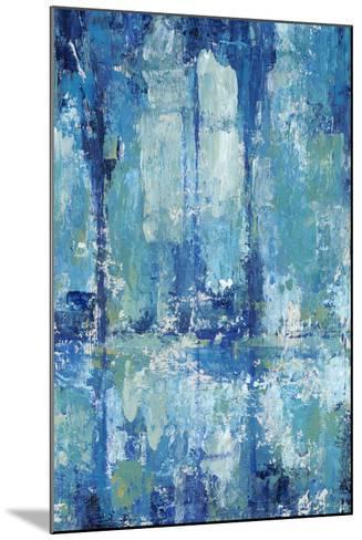 Blue Reflection Triptych II-Tim OToole-Mounted Art Print