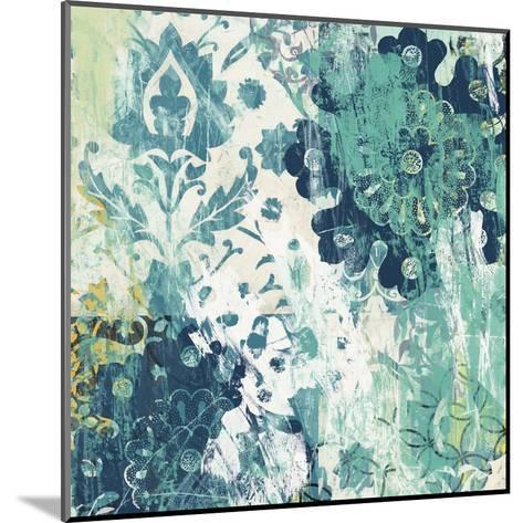Blue Floral Layers I-June Vess-Mounted Art Print