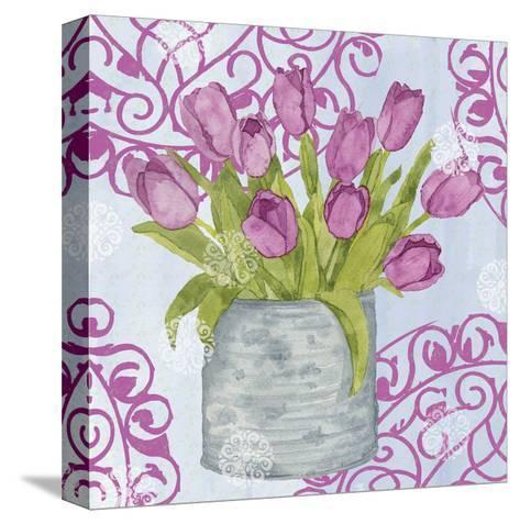Garden Gate Flowers IV-Leslie Mark-Stretched Canvas Print