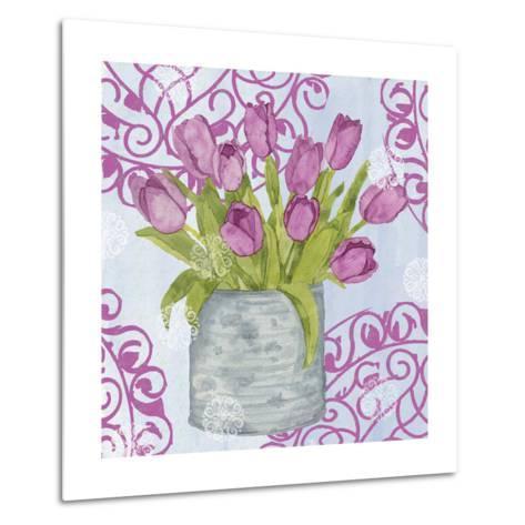 Garden Gate Flowers IV-Leslie Mark-Metal Print