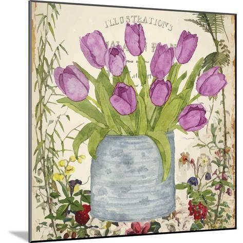 Vintage Tulip Can II-Leslie Mark-Mounted Art Print