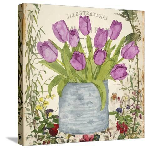 Vintage Tulip Can II-Leslie Mark-Stretched Canvas Print