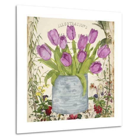 Vintage Tulip Can II-Leslie Mark-Metal Print