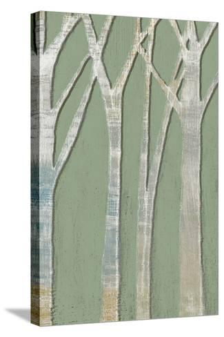 Birchline Triptych III-Jennifer Goldberger-Stretched Canvas Print