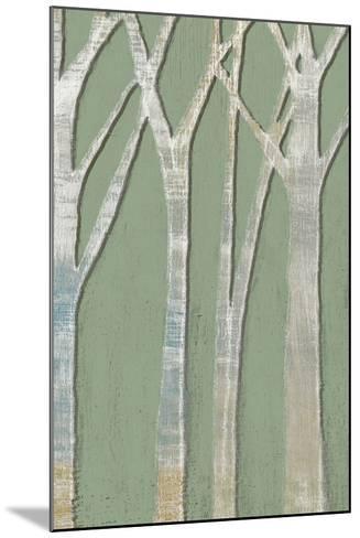 Birchline Triptych III-Jennifer Goldberger-Mounted Art Print