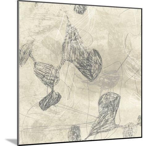 Graphite Inversion IV-June Vess-Mounted Art Print