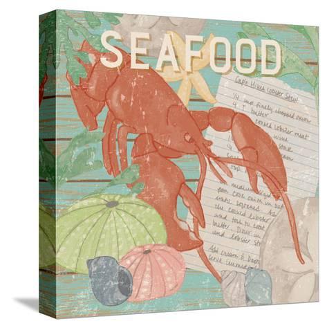 Fresh Seafood II-Leslie Mark-Stretched Canvas Print