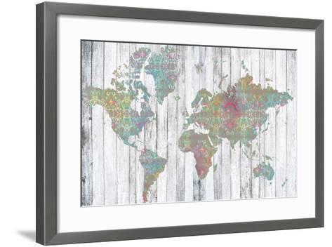 Boho Map II-Jennifer Goldberger-Framed Art Print