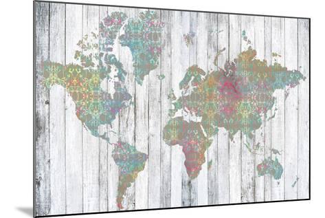 Boho Map II-Jennifer Goldberger-Mounted Art Print