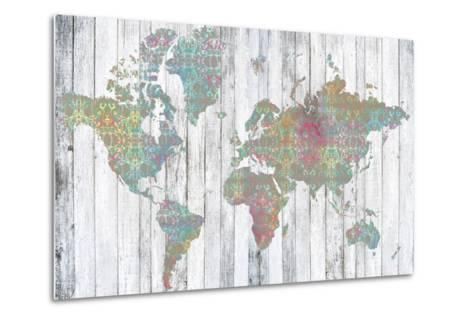 Boho Map II-Jennifer Goldberger-Metal Print