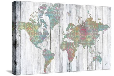 Boho Map II-Jennifer Goldberger-Stretched Canvas Print