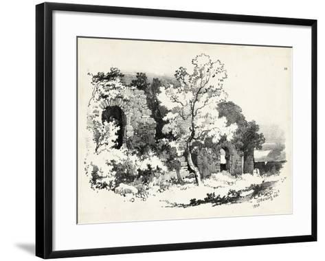 Idyllic Landscape VI-J^d^ Harding-Framed Art Print
