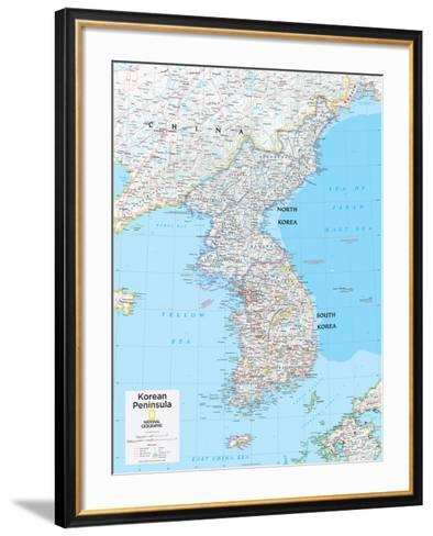 2014 Korean Peninsula - National Geographic Atlas of the World, 10th Edition-National Geographic Maps-Framed Art Print