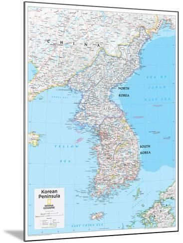2014 Korean Peninsula - National Geographic Atlas of the World, 10th Edition-National Geographic Maps-Mounted Poster