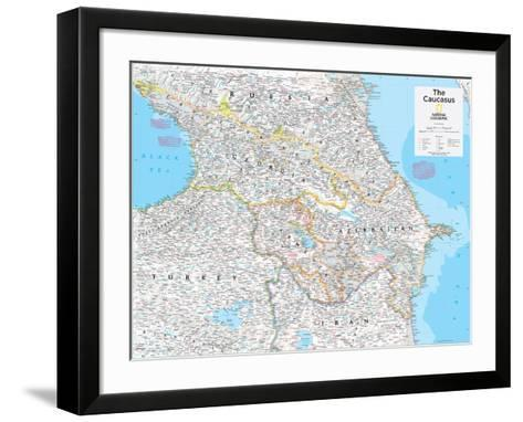 2014 The Caucasus - National Geographic Atlas of the World, 10th Edition-National Geographic Maps-Framed Art Print