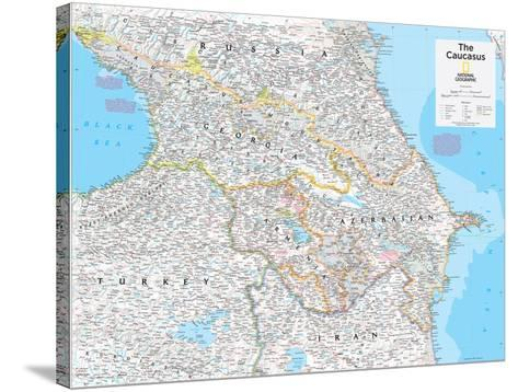 2014 The Caucasus - National Geographic Atlas of the World, 10th Edition-National Geographic Maps-Stretched Canvas Print