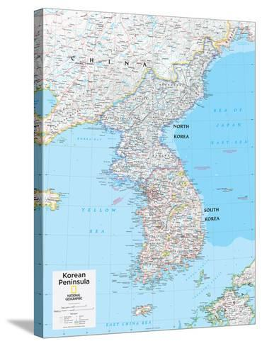 2014 Korean Peninsula - National Geographic Atlas of the World, 10th Edition-National Geographic Maps-Stretched Canvas Print