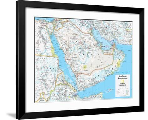 2014 Arabian Peninsula - National Geographic Atlas of the World, 10th Edition-National Geographic Maps-Framed Art Print