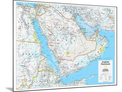 2014 Arabian Peninsula - National Geographic Atlas of the World, 10th Edition-National Geographic Maps-Mounted Poster