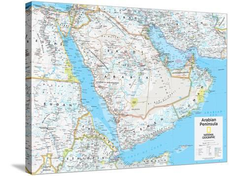 2014 Arabian Peninsula - National Geographic Atlas of the World, 10th Edition-National Geographic Maps-Stretched Canvas Print