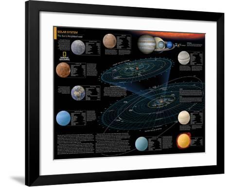 2014 Solar System - National Geographic Atlas of the World, 10th Edition-National Geographic Maps-Framed Art Print