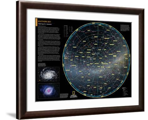 2014 Southern Sky - National Geographic Atlas of the World, 10th Edition-National Geographic Maps-Framed Art Print