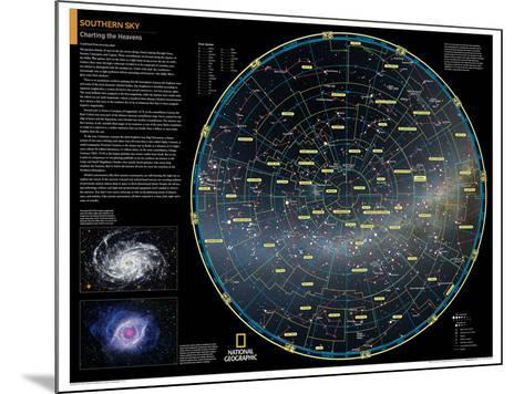 2014 Southern Sky - National Geographic Atlas of the World, 10th Edition-National Geographic Maps-Mounted Poster