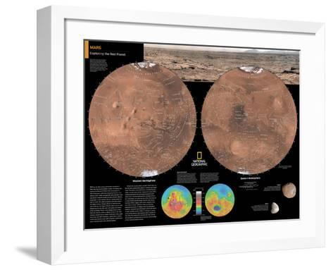 2014 Mars - National Geographic Atlas of the World, 10th Edition-National Geographic Maps-Framed Art Print